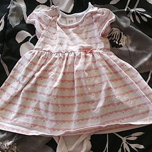 H&M white and pink dress